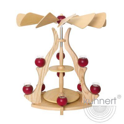 Drechslerei Kuhnert - Massivholzpyramide - rot